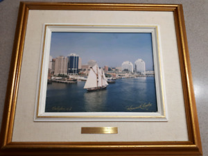 Maurice Crosby-Bluenose II-signed original print-$45