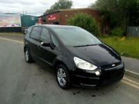 "FORD S-MAX 1.8 ZETEC TDCI 6 SPEED 5 DOOR 2010""10"" REG 57,000 MILES FACTORY BLACK"