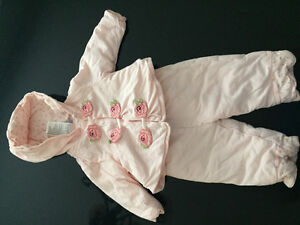 Winter pretty pink baby girl outfit