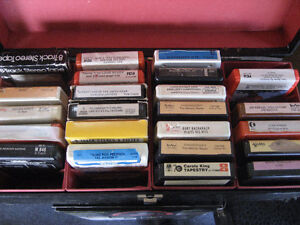 8 Track tapes in cases