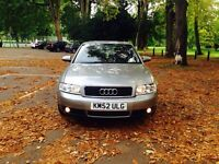 AUDI 2003-SPORTS 5 DOOR-SPACE GREY-LONG MOT-SAT NAV-FULL LEATHER-FULL SERVICE CLEAN IN OUT