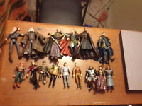Star Trek and lord of the rings action figures