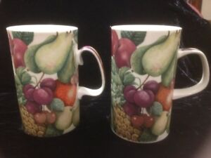 Two New Fine Bone China Tall Mugs by Dunoon Made in England