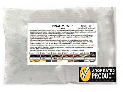 """Hair Fibers in 23 Colors Choose A Size - Finally Hair """"A"""" Grade over 27,500 SOLD"""