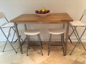 3 bar stools!