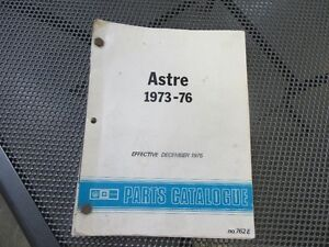 1973   to 1977  Astre or Vega  parts manual  GM Prince George British Columbia image 1