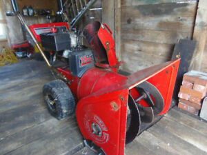 Older 10hp Tecumseh snow blower for sale.