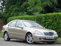 2002 MERCEDES BENZ C220 2.1TD AUTO CDI Elegance***LOW MILES ONLY 77K + BARGAIN**