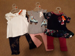 3 Bnwt 6-12months 2 piece outfits