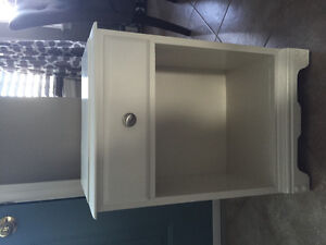 White nightstand table