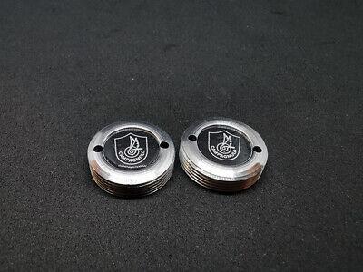 Retro Shimano Crank Caps Threaded Caps Dust Caps Covers Silver