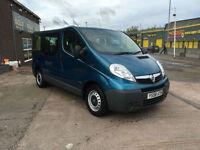 2009 Vauxhall Vivaro 2.0 CDTi 16v 9 SEATER COMBI MPV 2900 SWB NO VAT ONLY 85000