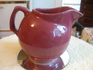 OLD VINTAGE AMERICAN-MADE POT-BELLIED POTTERY POURING JUG
