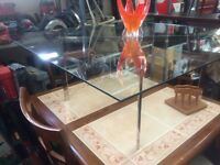 modern large glass center coffee table