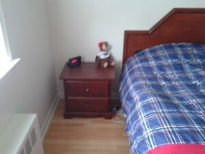 Bed and Side Tables