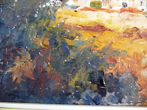 "Original Oil by Jean Johnson ""Across The Fields"" Listed Artist Stratford Kitchener Area image 8"