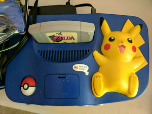 Special edition Pikachu N64 with zelda