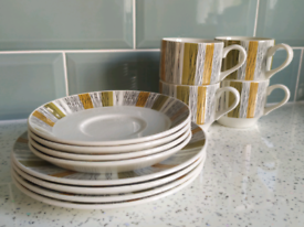 Vintage Retro 1960s Midwinter Sienna Coffee Set