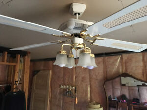 White Ceiling Fan with Lights