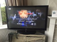 50 inch LG HD TV and remote