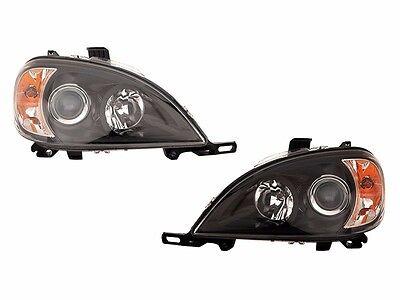 BEAVER COACH SANTIAM 2001 2002 BLACK HEADLIGHTS HEAD LIGHT LAMPS RV - SET
