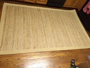 Area rug - 5' x 8' Jute with cotton back and boarder.