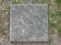 Buff textured paving slabs 45cm x 45cm total of 16 slabs used