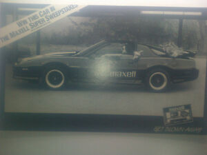 Maxell Poster with 1980's Pontiac Trans Am. $45