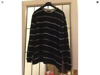 Men's next blue striped pullover vg used condition