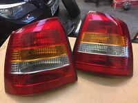 Vauxhall Astra G mk4 rear lights pair passenger & driver side