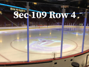 2 Tickets Vancouver Canucks Lower Bowl Row 4 - Many Games