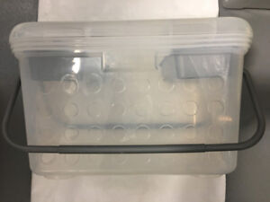 Clear Craft/Sewing Handy Tote Box with Carry Handles