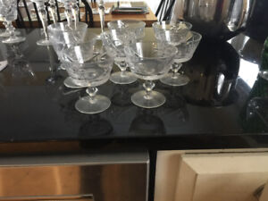 8 Pinwheel Crystal glasses