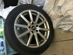 NEW SNOW TIRES WITH RIMS- AUDI A4
