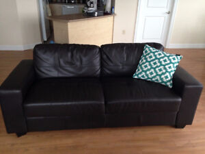 Great comfortable 3-4 seater dark brown couch