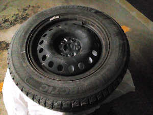 Used winter tires on 17-inch steel rims from a 2015 Nissan Rogue