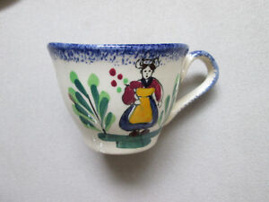 HAND PAINTED CUP & SAUCER MADE IN FRANCE West Island Greater Montréal image 2