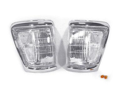 Corner Lights Lens - DEPO Pair of Clear Lens Front Corner Light For 1992-1995 Toyota Pickup Truck 4WD