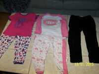 robes,chandail, veste, jeans & pyjama canadiens rose 3-4 ANS