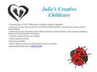 Julie's Creative Childcare (South East Barrie)