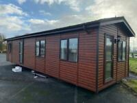 LOG CABIN LODGE FOR SALE OFF SITE 40X14FT 2 BED WITH BATH