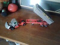 Matchbox Sumper King tractor trailer dump