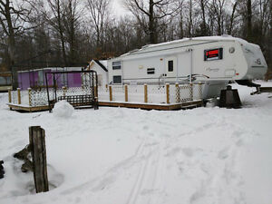 Roulotte 27 pieds - Camping Tropical Lyster