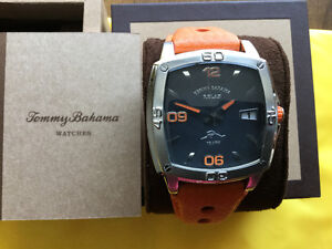 Reduced NEW  TOMMY BAHAMA  Relax Sports Watch Box/Warranty