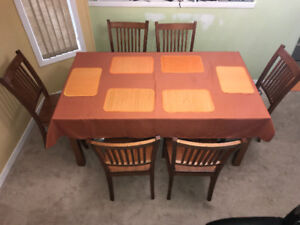 Dining table set solid wood