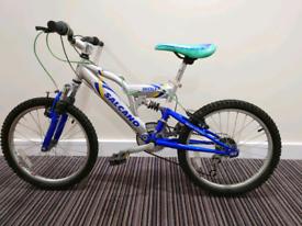 Salcano Wolf 18 speed MTB kids bicycle dual suspension bike