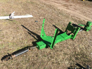 Universal kit to convert rear  PTO to the front of a tractor
