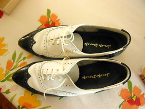 1980's Donato Leather Black and White Men's shoes