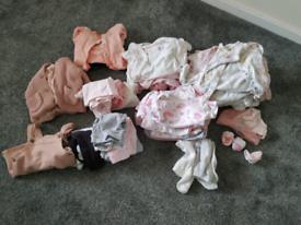 Baby girl bundle newborn 0-3