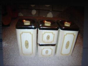 RETRO 4 PIECE CANISTER SET/ANTIQUE CANISTER SET London Ontario image 1